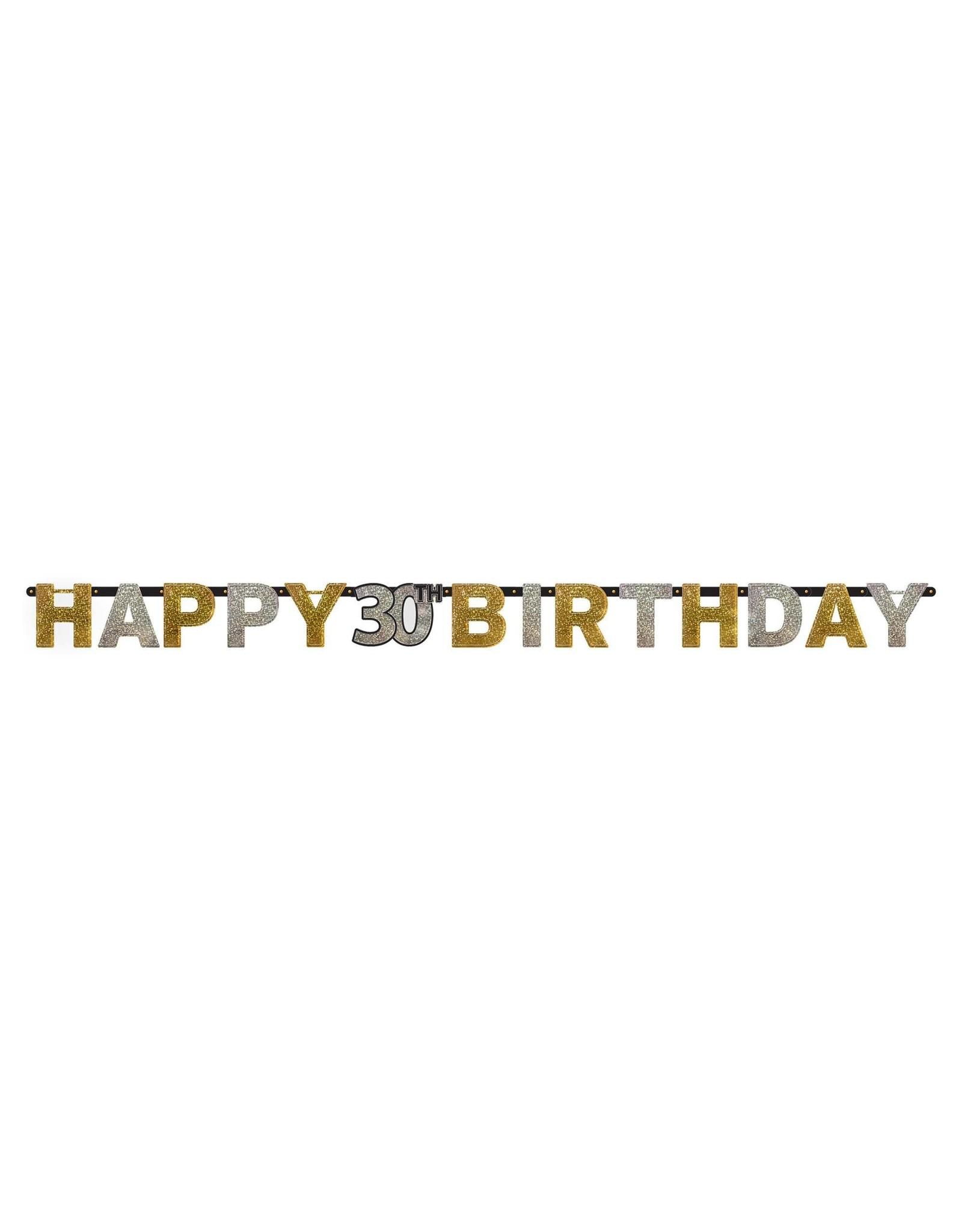 Amscan 30th Sparkling Birthday Banner - 7ft.