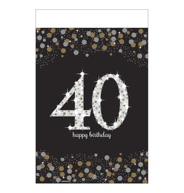 Amscan Sparkling Celebration 40th Tablecover