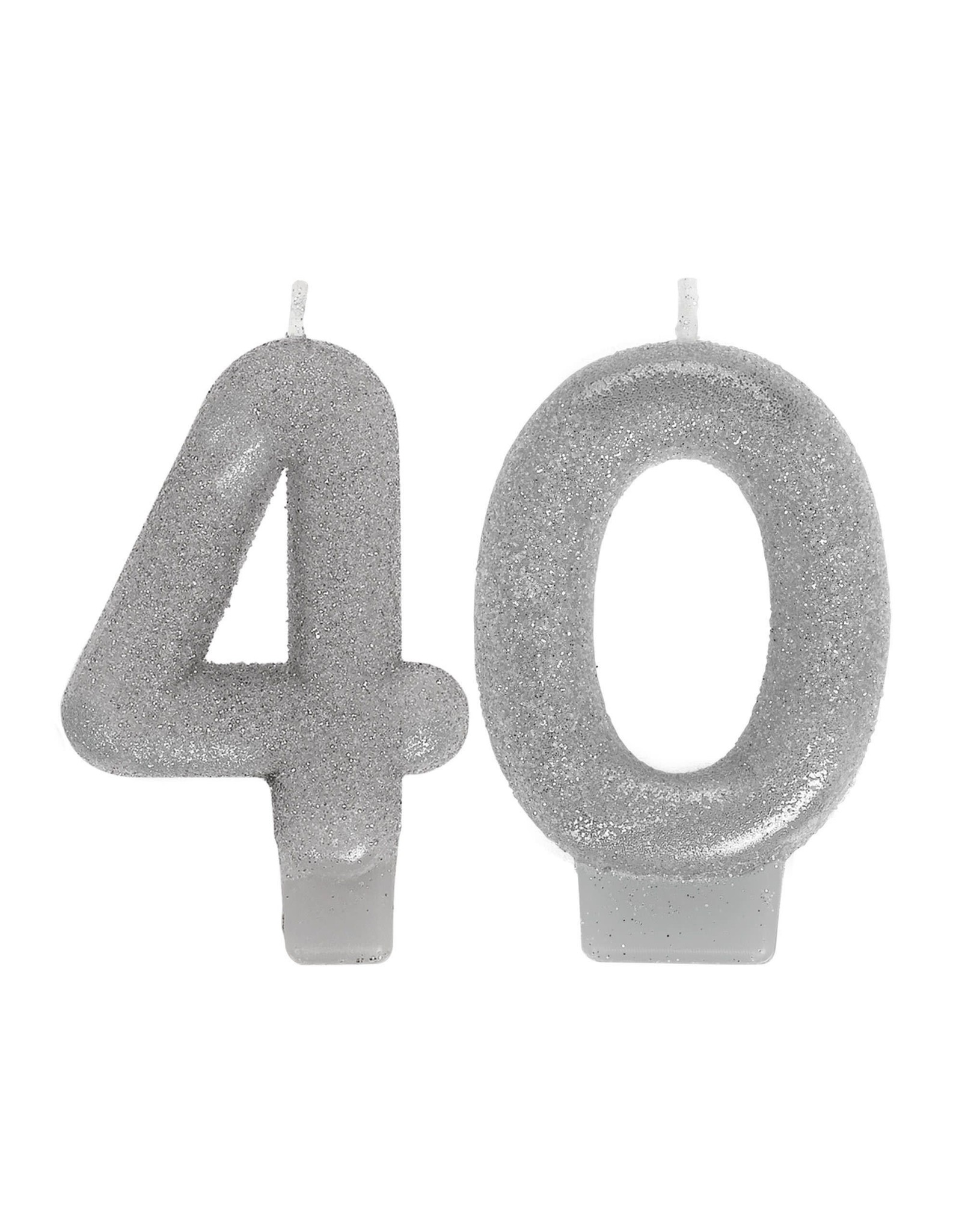 Amscan Silver Glitter 40 Birthday Candles