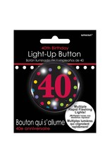 Amscan 40th Light Up Flash Button