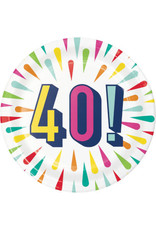 "creative converting Birthday Burst 40th 7"" Plate - 8ct."