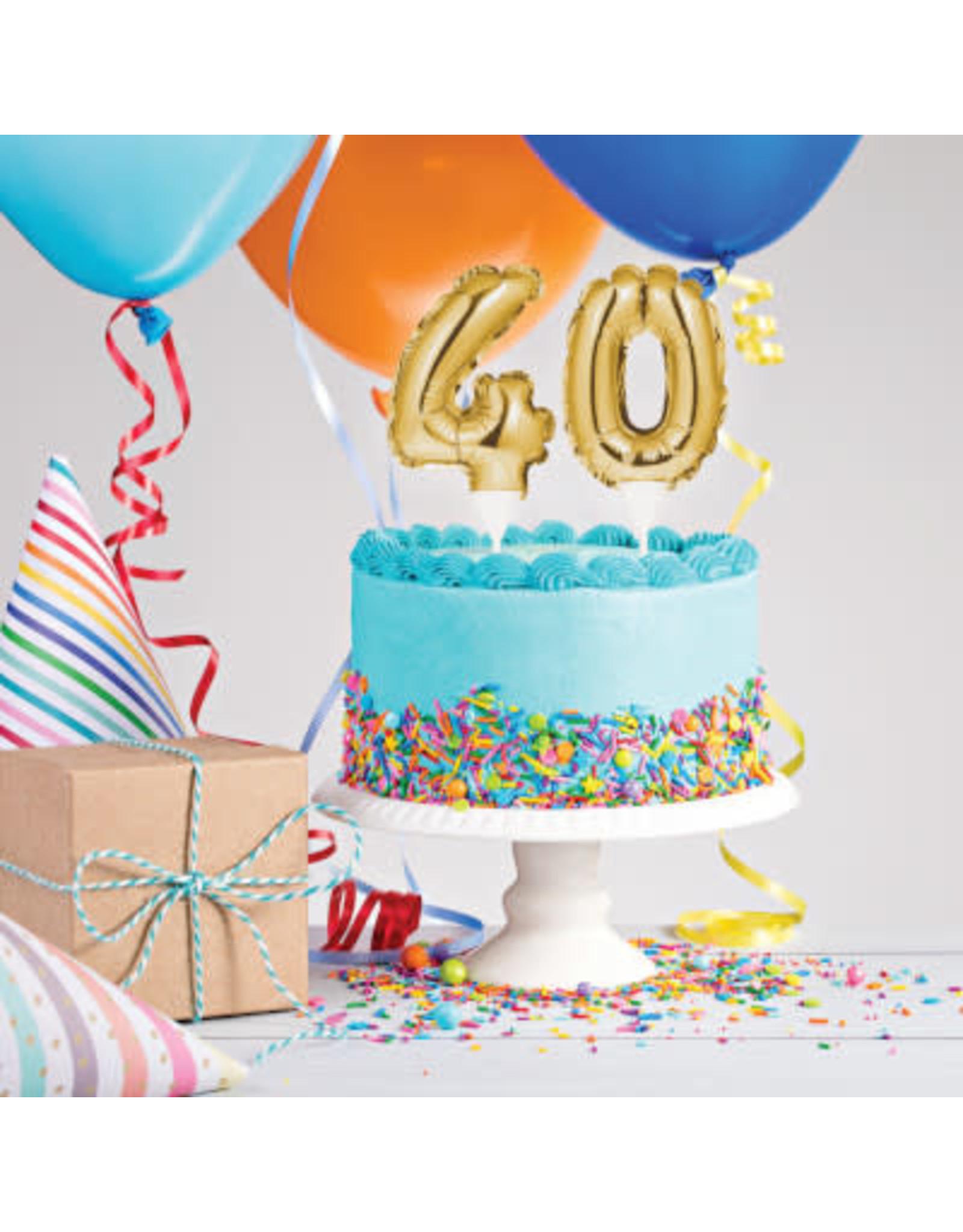 creative converting 40th Balloon Cake Topper