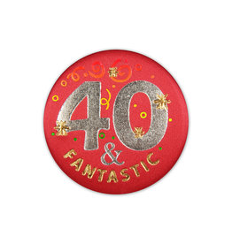 Beistle 40 & Fantastic Satin Button