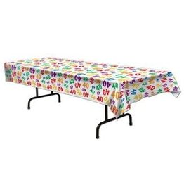 Beistle 40th Multi-Color Tablecover