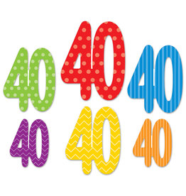 Beistle 40th  Birthday Cutouts - 6ct.
