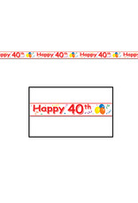 Beistle Happy  40th  Birthday Party Tape