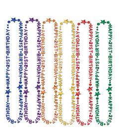 Beistle 21st  Birthday Beads - 1ct. Asst. Colors