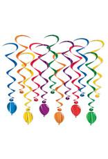 Beistle Birthday Balloon Whirls - 12ct.