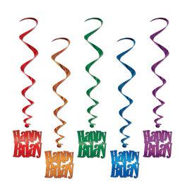 Beistle Happy Birthday Whirls - 5ct.