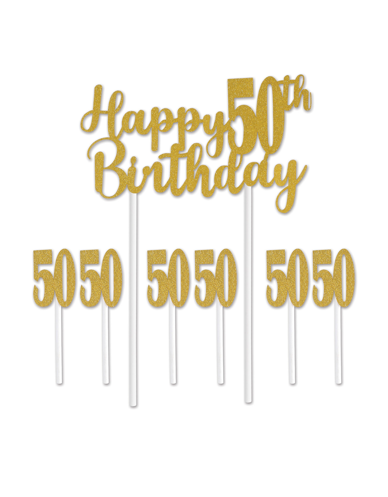 Beistle 50th Birthday Cake Topper