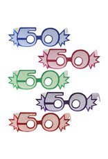 Beistle Glittered 50th Glasses - 1ct.