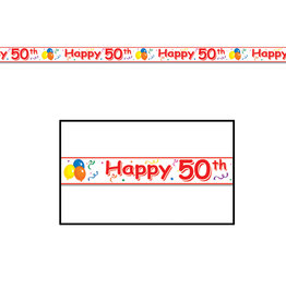 Beistle Happy  50th  Birthday Party Tape