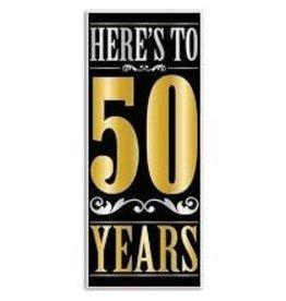 Beistle Happy 50th Birthday Door Cover