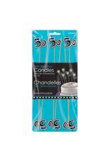 Amscan 50th Birthday Candle Sticks - 6ct.