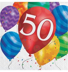 creative converting Balloon Blast 50th Lun. Napkins - 16ct.
