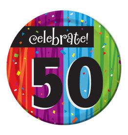 "creative converting Milestone Celebration 50th 7"" plates - 8ct."