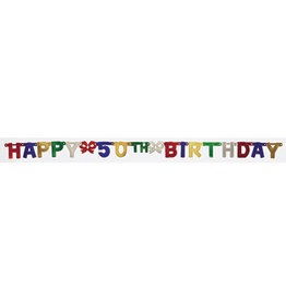 creative converting 50th Jointed Birthday Banner - 6.5ft.