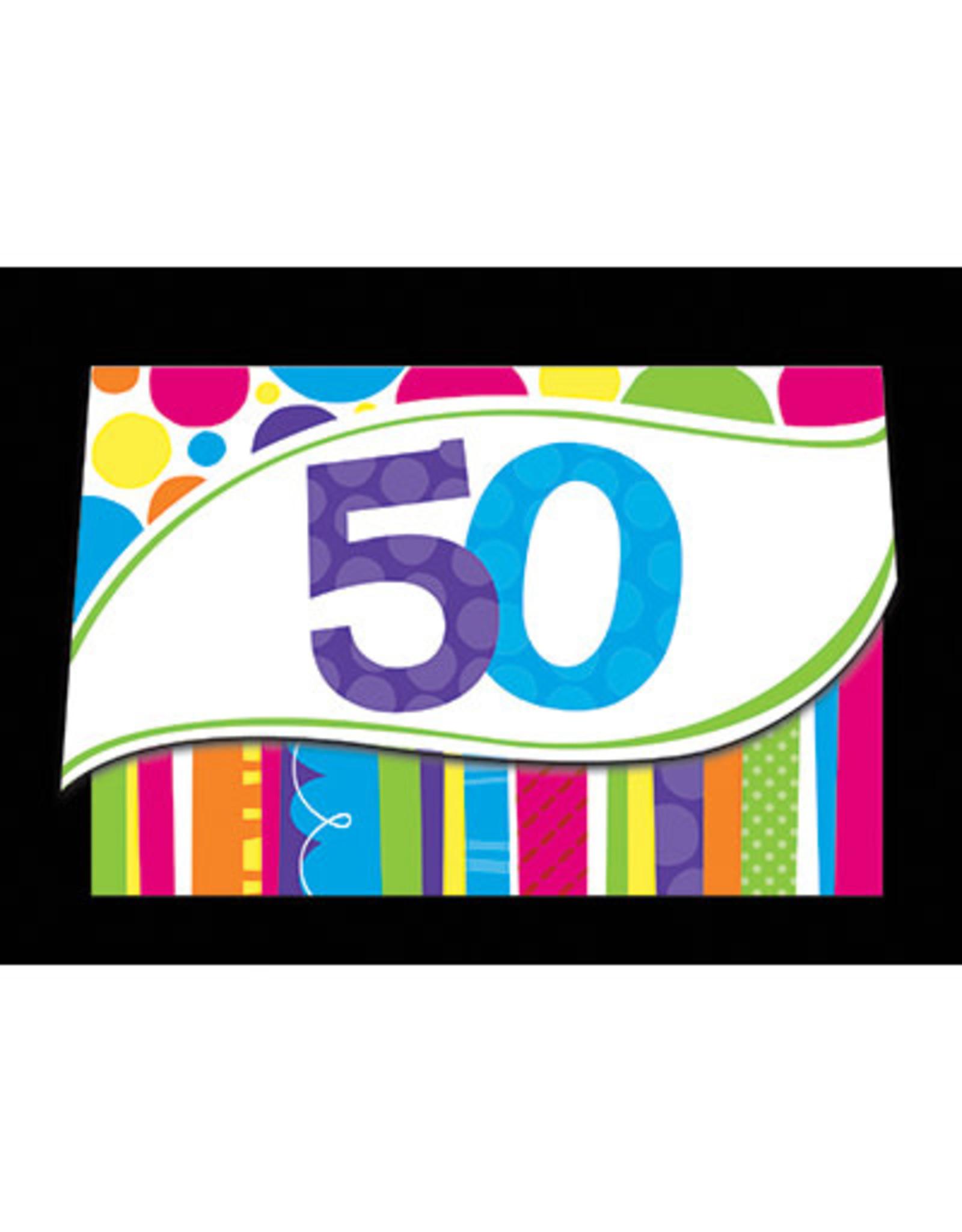 creative converting Bright and Bold 50th Invites - 8ct.