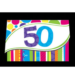 creative converting Bright and Bold 50th Invites - 8ct.