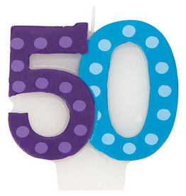 creative converting 50th Bright Bold Numeral Candle - 1ct.