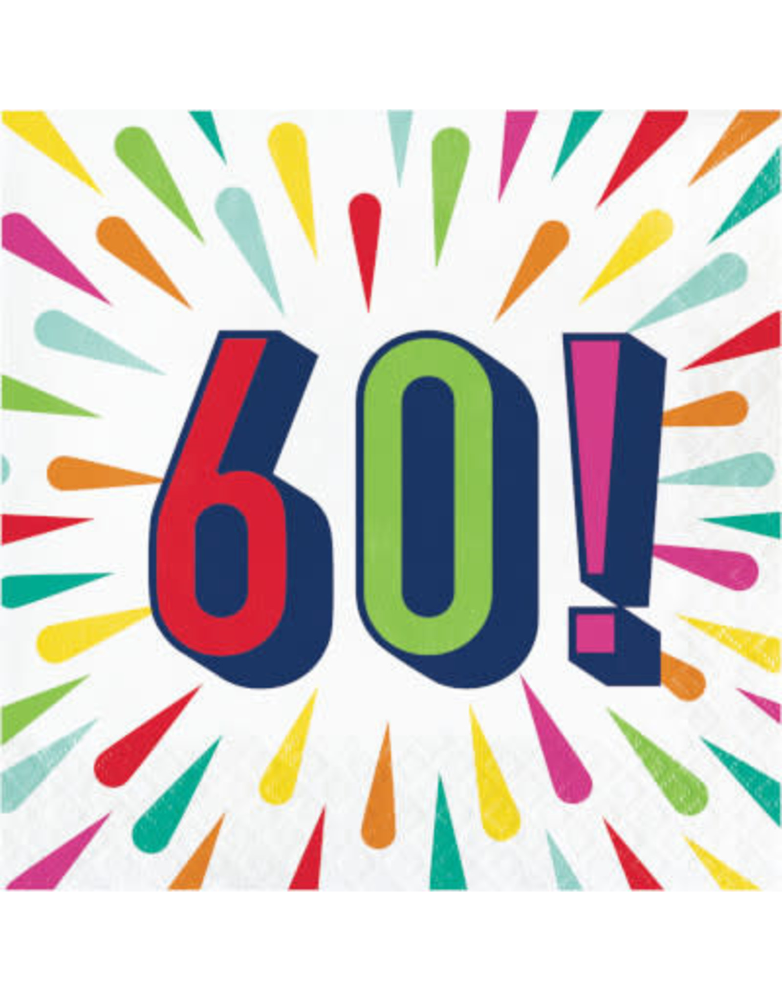 creative converting Birthday Burst 60th Lun. Napkins - 16ct.