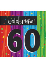 creative converting Milestone Celebrations 60th Lun. Napkins - 16ct.
