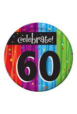 "creative converting Milestone Celebrations 60th 7"" Plates - 8ct."