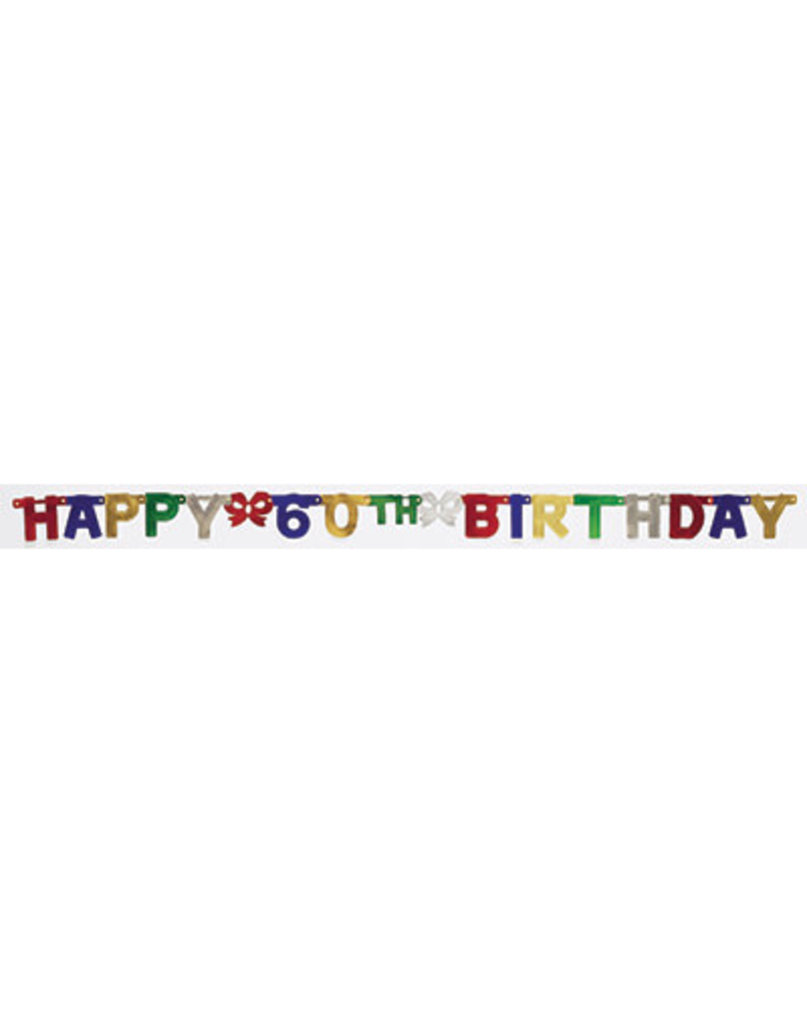 creative converting 60th Jointed Birthday Banner - 6.5ft.