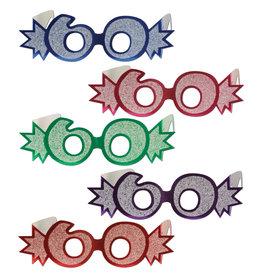 Beistle 60th  Glittered Foil Eyeglasses - 1ct.