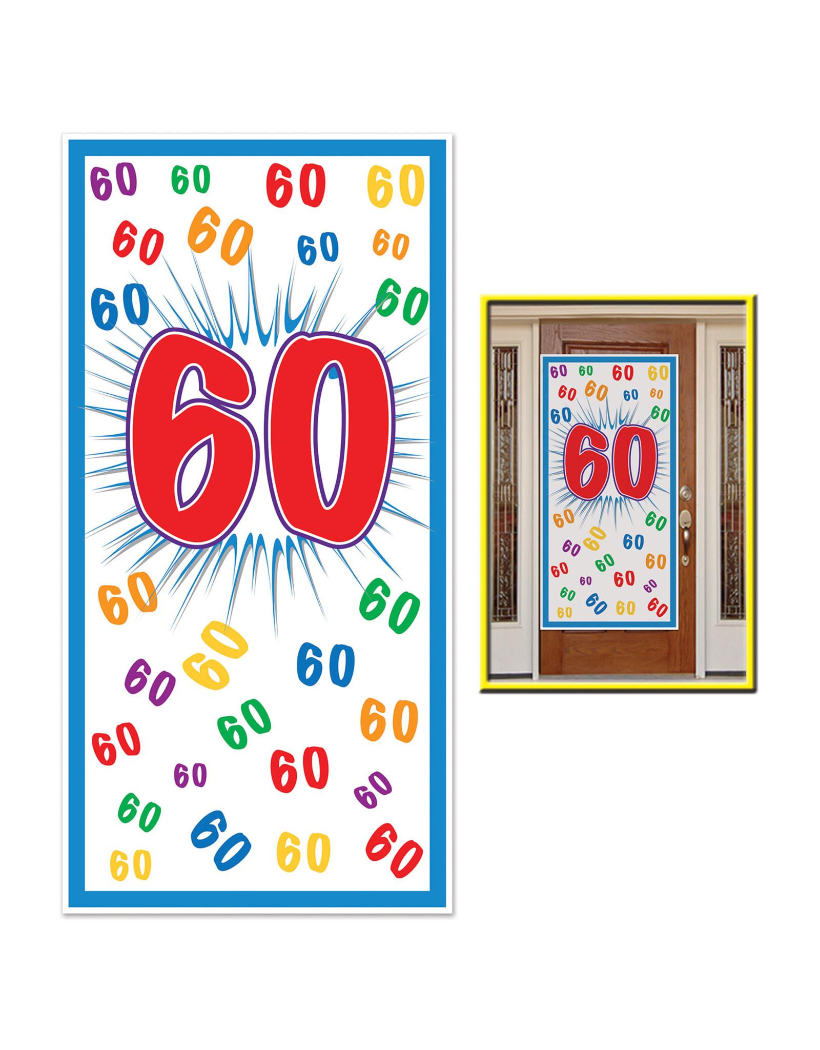 Beistle 60th Birthday Door Cover