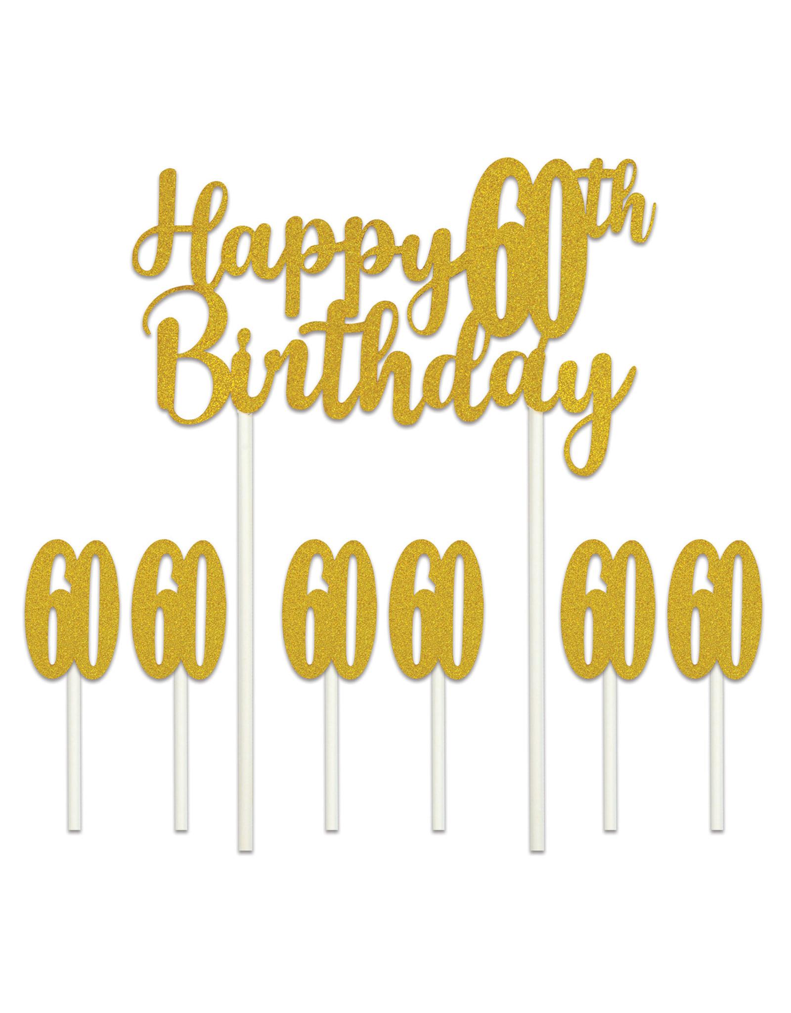 Beistle 60th Birthday Cake Topper
