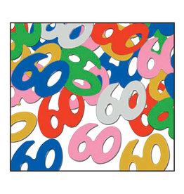 Beistle 60th Multi-Color Confetti - 0.5oz