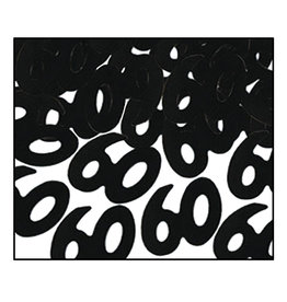 Beistle 60th Black Confetti - .5oz