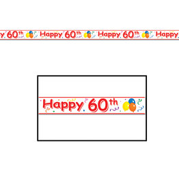 Beistle Happy 60th Birthday Party Tape - 20ft.