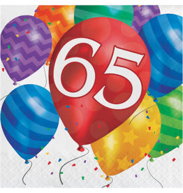 Party Creations Balloon Blast 65th Lunch Napkins - 16ct.