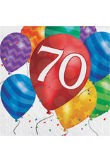 creative converting Balloon Blast 70th Lun. Napkins - 16ct.