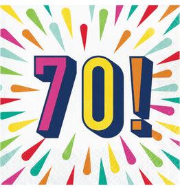 creative converting Birthday Burst 70th Lun. Napkins - 16ct.