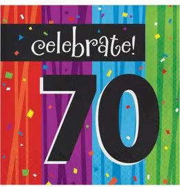 creative converting Milestone Celebrations 70th Lun. Napkins - 16ct.