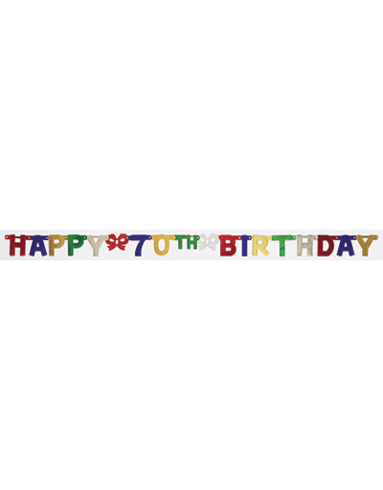 creative converting 70th Happy Birthday Banner - 6.5ft.