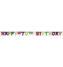 creative converting 70th Happy Birthday Banner - 6.5ft.