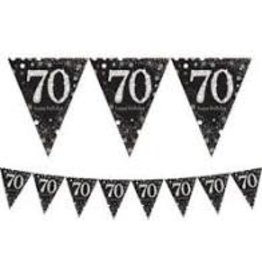 Amscan Sparkling Celebration 70th Banner - 13ft.