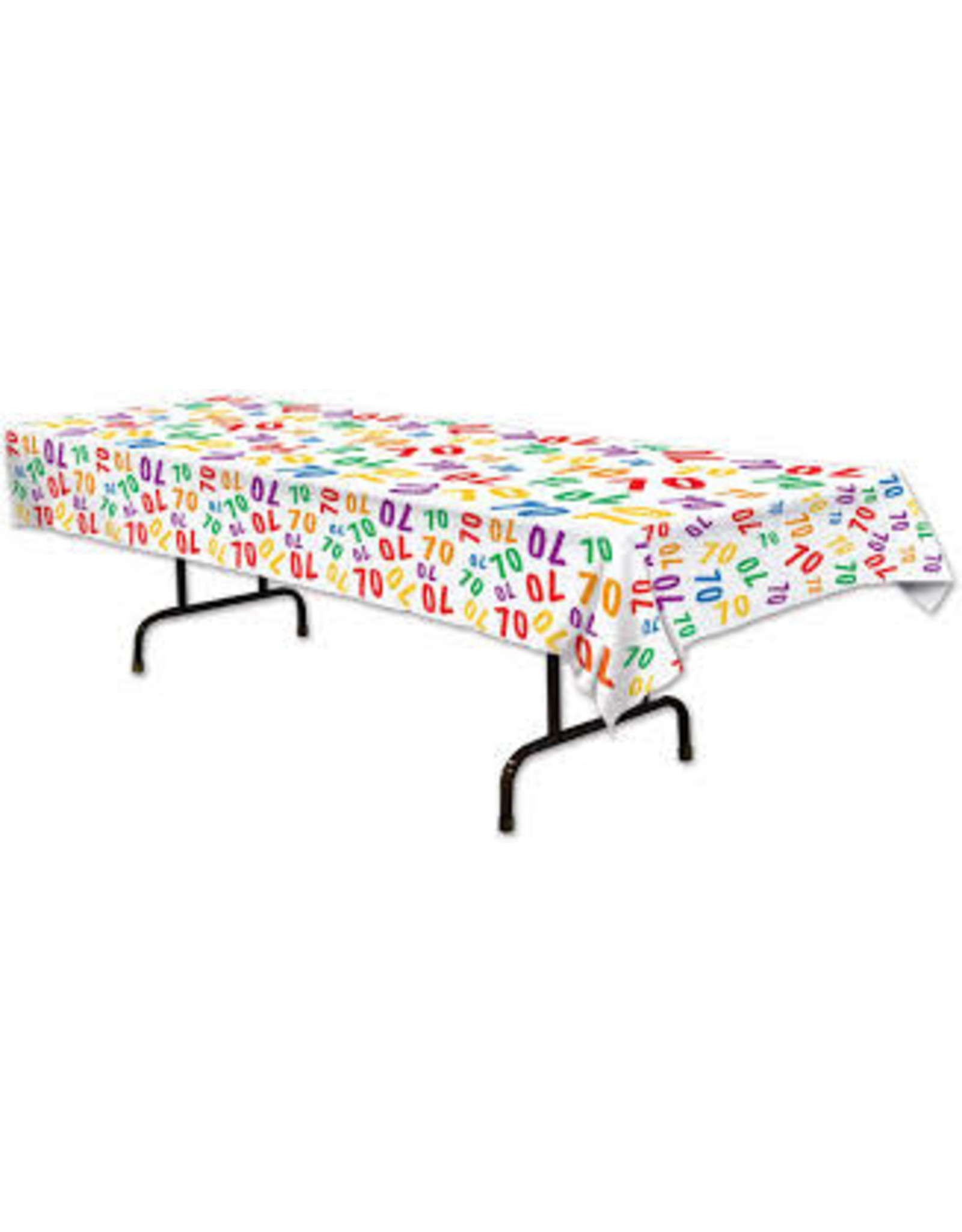 Beistle 70th Birthday Tablecover