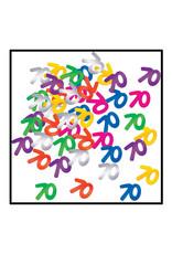 Beistle 70th Multi-Color Confetti - 0.5oz
