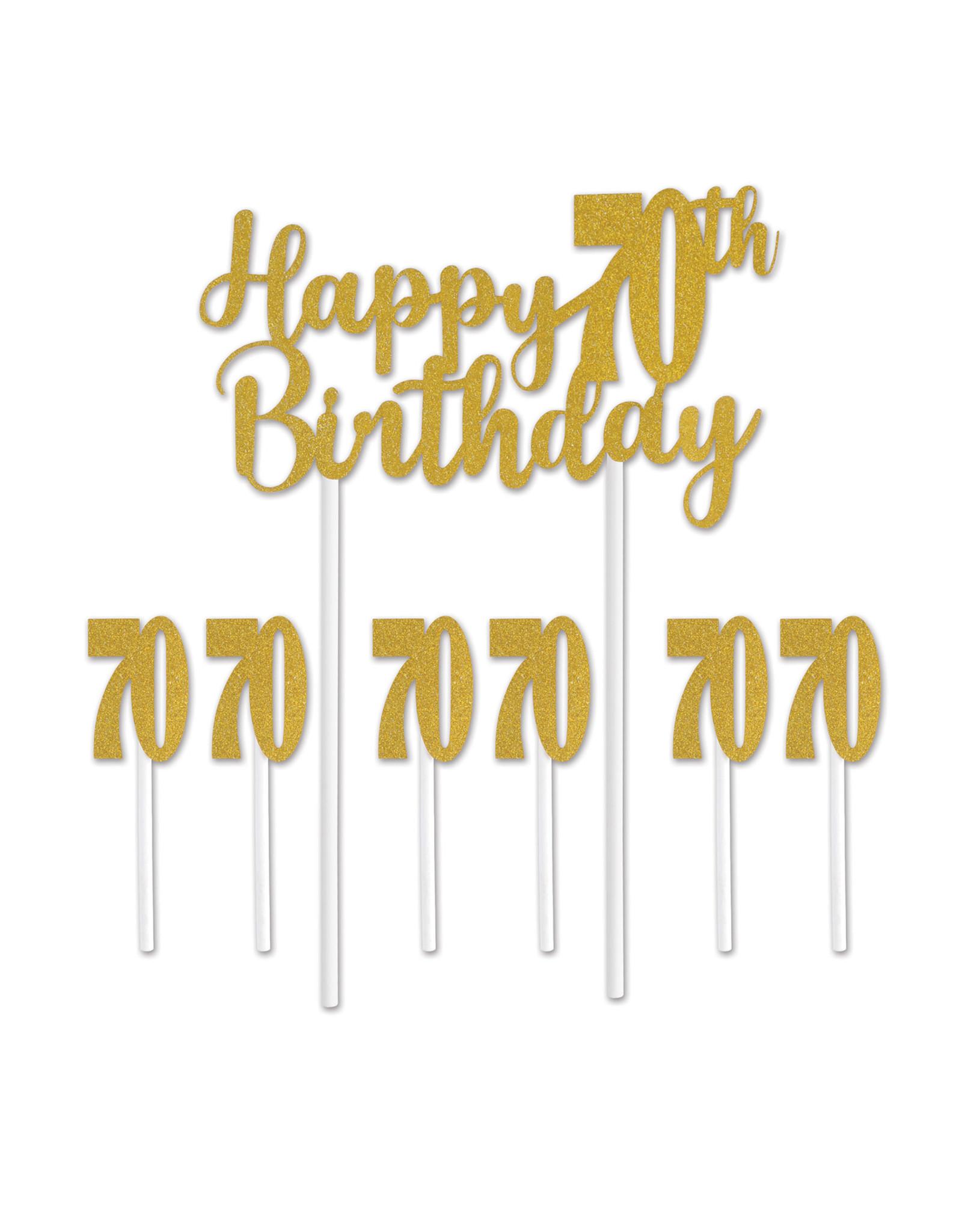 Beistle 70th Birthday Cake topper