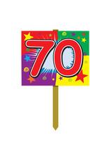 Beistle 70th  Birthday Yard Sign