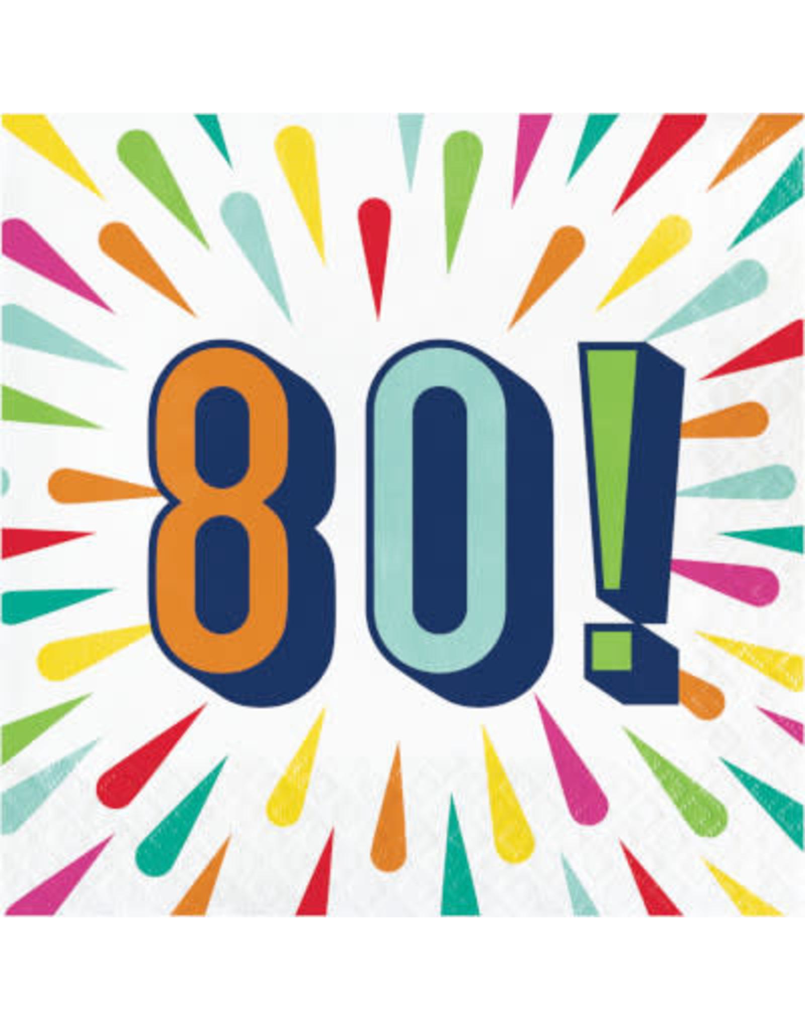 creative converting Birthday Burst 80th Lun. Napkins - 16ct.