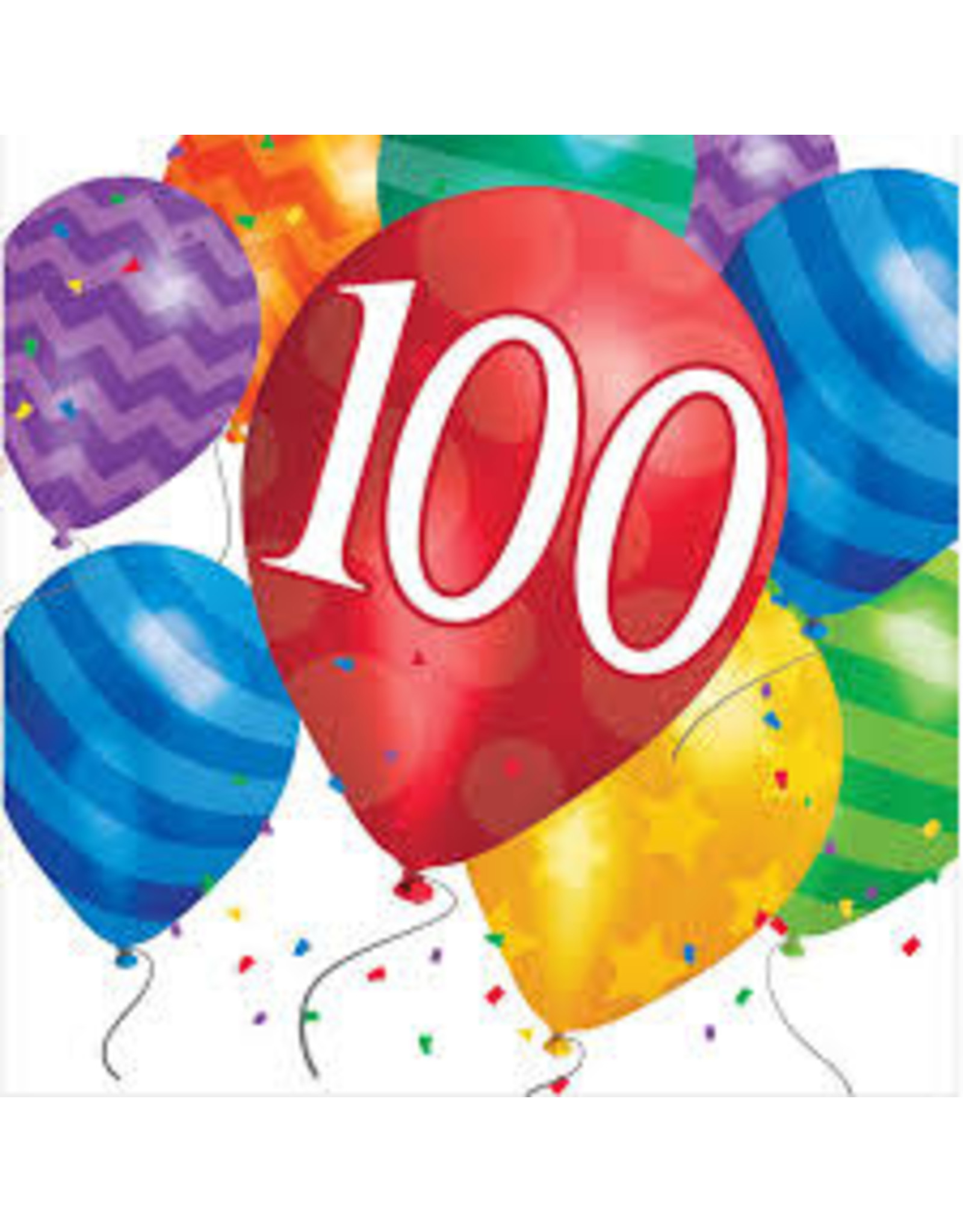 creative converting 100th Balloon Blast Lun. Napkins - 16ct.