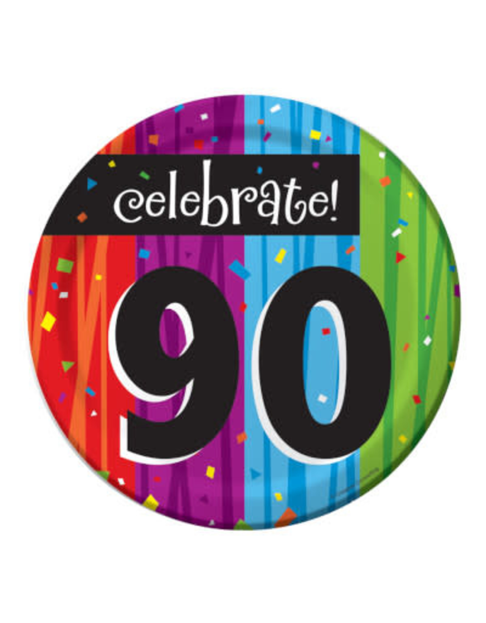 "creative converting 90th Milestone Celebration 7"" Plates - 8ct."