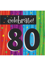creative converting 80th Milestone Celebration Lun. Napkins - 16ct.