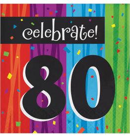 creative converting 80th Milestone Celebration Lun. Napkins - 16ct.